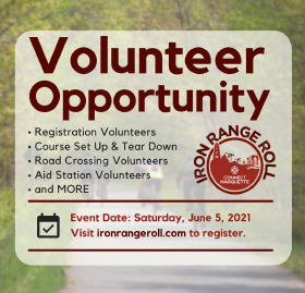 Volunteer in the Iron Range Roll