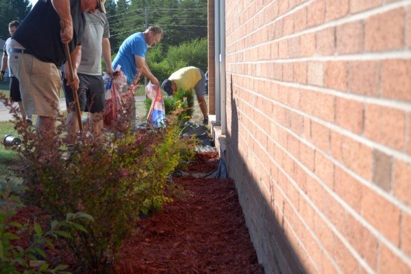 Volunteers Help Clean Up Gilbert Elementary School in Gwinn