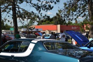 The turn out at the Lion's Club Car Show for Gwinn Fun Daze 2015