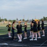 The Gwinn Cheer Squad practicing on the track!