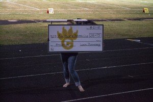 Money Raised from Local Sponsors for the All Sports Booster Club presented by Linda Soyring