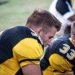 Varsity football player from Gwinn High School