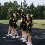 The Gwinn Cheer Squad making some noise during Meet the Modeltowners 2015