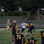 Making plays with the Gwinn Modeltowners football squads