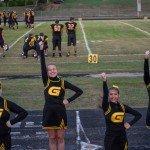 The cheerleaders giving us a good cheer