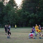 Kids playing their own game of football at Gwinn High school