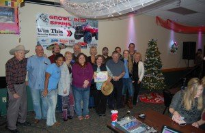 The Great Lakes Radio Team with Winner Sandi Heikkinen and Laura from Holiday Travel