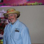 Here's Bill Tibor, salesman of the night with his festive mexican hat on!
