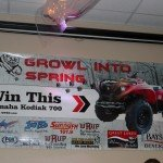 Our first giveaway for 2016 will be the Growl Into Spring Giveaway where you can register to win a Yamaha Kodiak 700 ATV!