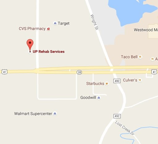 Find UP Rehab Services with Google Maps