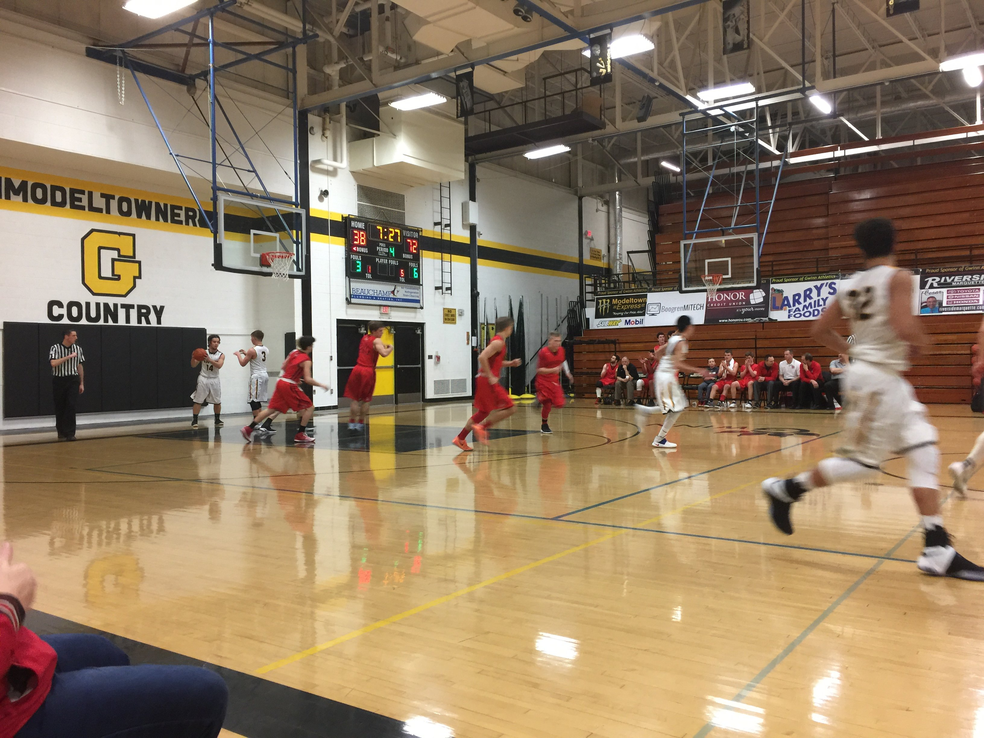 Nice victory from Gwinn as the Marquette Redmen win 87-51 over the Gwinn ModelTowners!