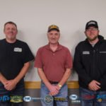 Dennis Sippola and Mike and TJ from Premium Pole Buildings and Storage Sheds.
