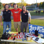 Luke Ghiardi, Alex Tiseo, and Ryan Ranguette at the Marquette Tailgate Party.