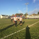 Redmen take the field.
