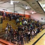 The Escanaba student section is fired up for the game
