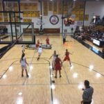 Marquette brings the ball up the court