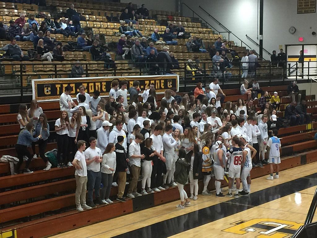 The Traverse City Student Section is fired up