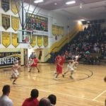 Negaunee takes control and tries to bring the ball up court