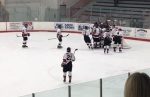 The Marquette Redmen playing the Sault Ste. Marie Showcase.