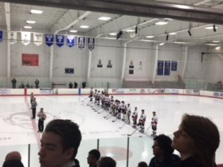 The Marquette Redmen just before their game against Traverse City West