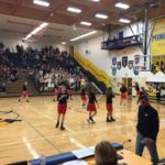 The Marquette Redettes warming up