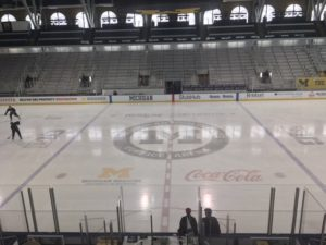 Site of this morning's morning skate.