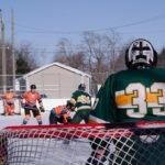 Goal Tending on the NMU side.