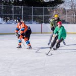 Bring your kids out to enjoy the community ice rink.