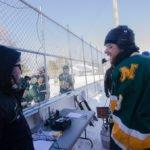 Team Captain, Alex Svboda talking to Ryan on Fox Sports Marquette.