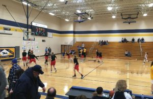 The Marquette Redettes practicing their layups
