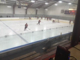 The Marquette Redmen getting ready for the game against their rivals