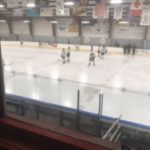 Negaunee warming up before the game