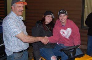 Chuck Bergdahl Congratulates Cub Cadet Winner Tasha Vangundy