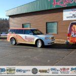 The Sunny Van in front of River Rock Lanes