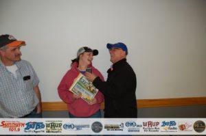 Tasha Vangundy picked the lucky envelope