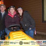 Tasha Vangundy, with her mowing neighbors: Matt and Renee