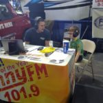 Luke G broadcasting live from the U.P. Boat, Sport & RV Show