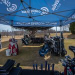 Go down the line and test out a club from each tent!