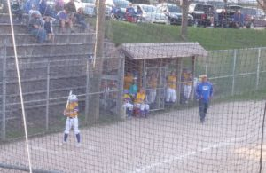 The Kingsford dugout watches the game