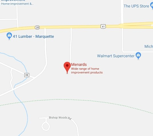 Menards on Google Maps