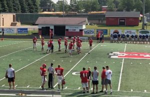The Marquette Redmen getting ready for the opening game of the football season.