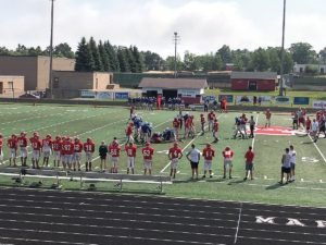 The Marquette Redmen and Calumet Copper Kings Scrimmage