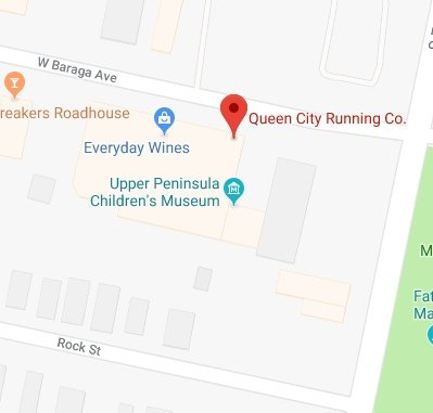 Visit in Queen City Running Company with Google Maps