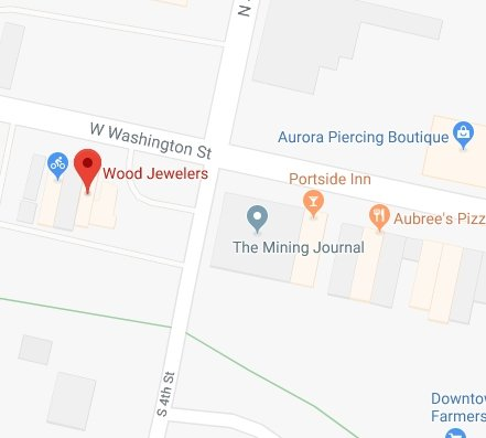 Find Wood Jewelers of Marquette with Google Maps
