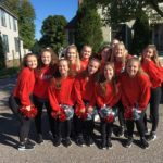 Marquette's Dance Team poses before the parade.