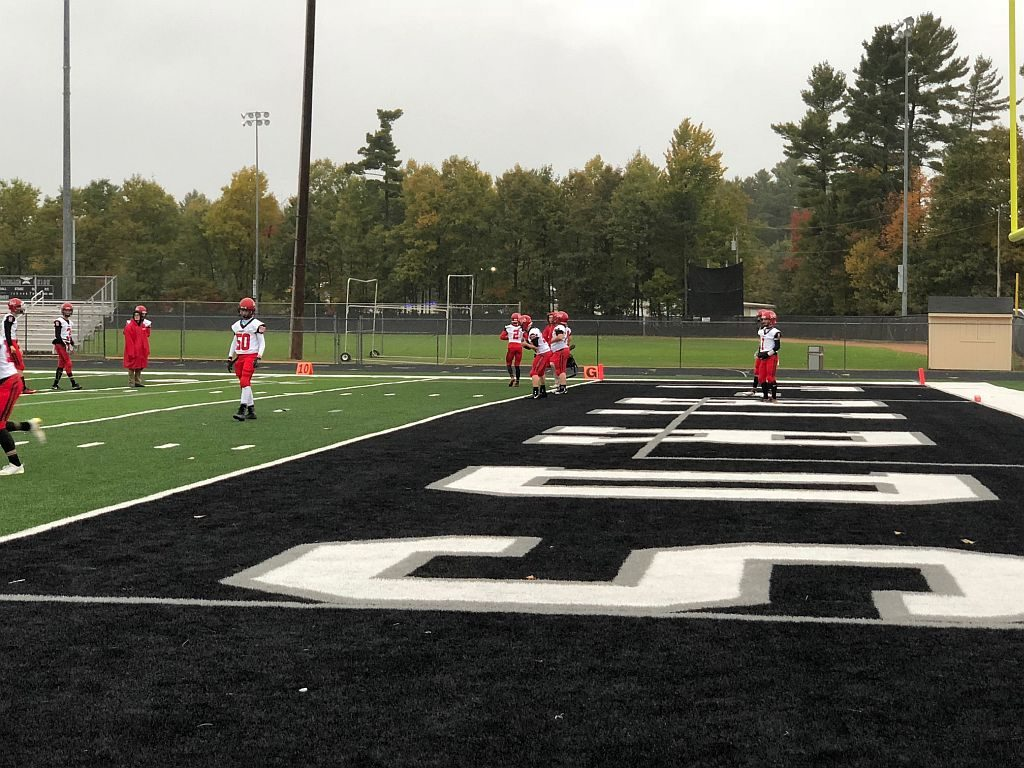 The Marquette Redmen warm up at Lakeland Union before taking on the Thunderbirds.