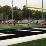 The Marquette Redmen prepare to take on the Lakeland Union Thunderbirds.
