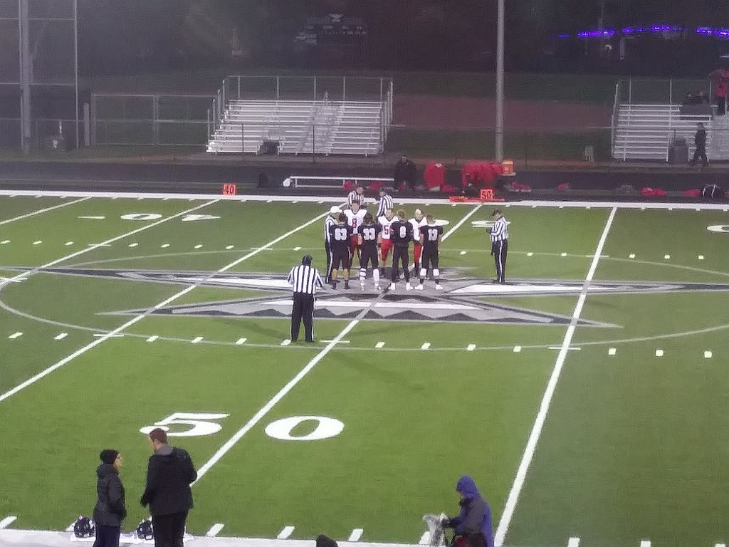 The Marquette Redmen, Lakeland Union Thunderbirds coin toss.