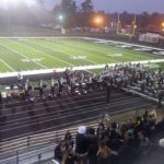 The Thunderbirds' marching band celebrates the Lakeland Union homecoming against the Marquette Redmen.