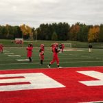 It's a chilly night at home in Marquette where the Redmen perpare to take on Gladstone.